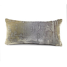 Brushstroke Velvet Mini Boudoir Pillow by Kevin O'Brien (Silk Velvet Pillow)