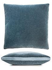 Mohair Pillow with Velvet Tuxedo Stripe by Kevin O'Brien (Mohair & Velvet Pillow)