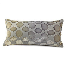 Mod Fretwork Velvet Mini Boudoir Pillow by Kevin O'Brien (Silk Velvet Pillow)