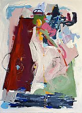Rocketman by Theresa Vandenberg Donche (Mixed-Media Painting)
