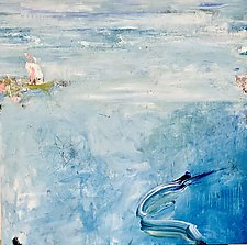 Below the Surface by Theresa Vandenberg Donche (Mixed-Media Painting)
