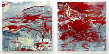 Red Diptych by Robin Feld (Oil Painting)