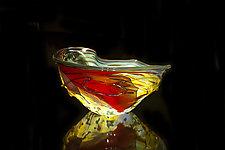 Salado Glassworks Signature Bowl Line VII by Gail Allard (Art Glass Bowl)