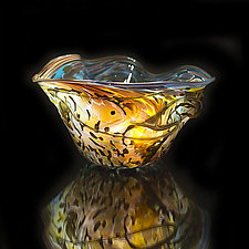 Salado Glassworks Signature Bowl Line XIII by Gail Allard (Art Glass Bowl)