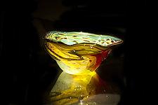 Salado Glassworks Signature Bowl Line VI by Gail Allard (Art Glass Bowl)