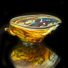 Salado Glassworks Signature Bowl Line XI by Gail Allard (Art Glass Bowl)
