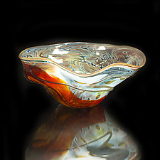 Salado Glassworks Signature Bowl Line XIV by Gail Allard (Art Glass Bowl)