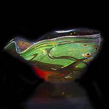 Salado Glassworks Signature Bowl Line XVI by Gail Allard (Art Glass Bowl)