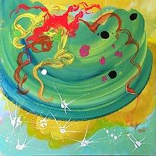 Splashy Siren by Amantha Tsaros (Acrylic Painting)