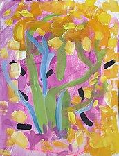 Flamingo Garden Party by Amantha Tsaros (Acrylic Painting)