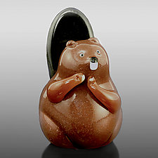 Beaver by Orient & Flume Art Glass (Art Glass Sculpture)