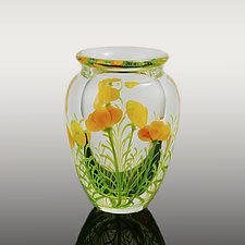 Poppies Vase by Orient & Flume Art Glass (Art Glass Vase)