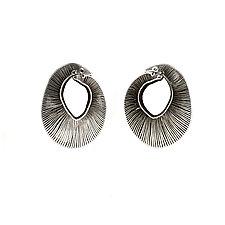 Barnacle Earrings by Karole Mazeika (Leather Earrings)