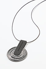 Area 51 Pendant by Karole Mazeika (Leather & Metal Necklace)