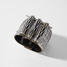 Plaza Blanca Bracelet by Karole Mazeika (Leather Bracelet)