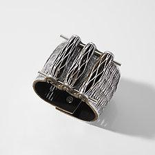 Plaza Blanca Bracelet by Karole Mazeika (Leather Bracelet)