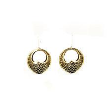 Seed-Pod Earrings by Karole Mazeika (Leather Earrings)