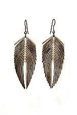 Plumeria Earrings by Karole Mazeika (Leather Earrings)