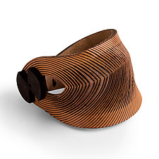 El Malpais Cuff by Karole Mazeika (Leather Bracelet)