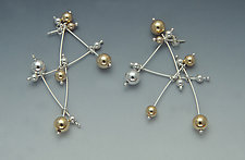 Constellation Earrings II by Elizabeth Earle (Gold and Silver Earrings)