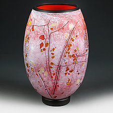 Pomegranate Passion (studio sample) by Eric Bladholm (Art Glass Vessel)