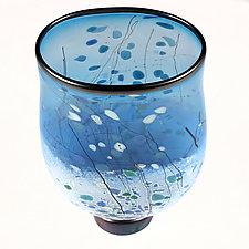 Marine Mirage Studio Sample by Eric Bladholm (Art Glass Vase)