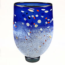 Indigo Inspiration Studio Sample by Eric Bladholm (Art Glass Vase)