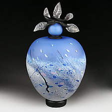 Winter Whisper Experimental Color Prototype by Eric Bladholm (Art Glass Vessel)