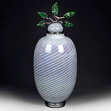 Wild Wisteria Studio Prototype by Eric Bladholm (Art Glass Vessel)
