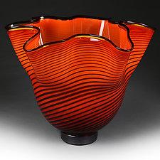 Vermilion Venetian Studio Sample by Eric Bladholm (Art Glass Vase)