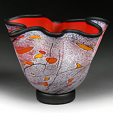 Ample Autumn by Eric Bladholm (Art Glass Vessel)