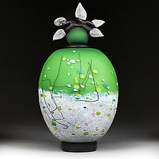 Vesnyani Polya (Spring Fields) by Eric Bladholm (Art Glass Vessel)