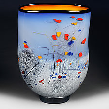 Azure Ambience by Eric Bladholm (Art Glass Vessel)