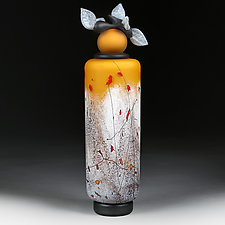 Letnje Jabuke (Summer Apples) by Eric Bladholm (Art Glass Vessel)