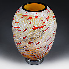 Litnya Vyshnya II(Summer Cherries II) Experimental Color Study by Eric Bladholm (Art Glass Vase)