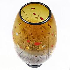 Hazy Honey Studio Sample by Eric Bladholm (Art Glass Vase)