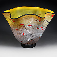 Meadow Maize (Studio Prototype) by Eric Bladholm (Art Glass Vase)