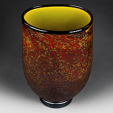 Tawny Treasure Studio Sample Vase by Eric Bladholm (Art Glass Vessel)