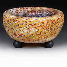 Litnya Vyshnya (Summer Cherries)  Prototype Deep-Dish Bowl by Eric Bladholm (Art Glass Bowl)