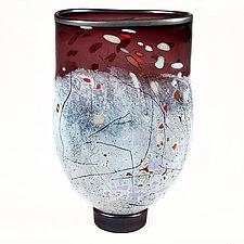 Boysenberry Boogie Studio Sample by Eric Bladholm (Art Glass Vase)