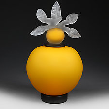 Novi Zivot (New Life) Satin Sunflower Demo Sample by Eric Bladholm (Art Glass Vessel)