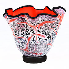 Fissure Fire II Experimental Prototype by Eric Bladholm (Art Glass Vessel)