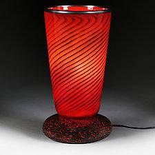 Venetian Vertigo (Studio Prototype) Large Table Lamp by Eric Bladholm (Art Glass Table Lamp)