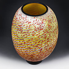 Litnya Vyshnya (Summer Cherries) Prototype Vase by Eric Bladholm (Art Glass Vase)