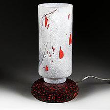 Zimska Jabuka (Winter Apple) Lamp (Studio Prototype) by Eric Bladholm (Art Glass Table Lamp)