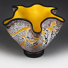 Solar Saffron Experimental Shape by Eric Bladholm (Art Glass Vessel)