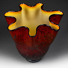 Fall Flare Large Bowl by Eric Bladholm (Art Glass Bowl)