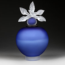 Novi Zivot (New Life) Satin Marine (Experimental Color Prototype) by Eric Bladholm (Art Glass Vessel)