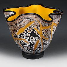 Solar Sun Experimental Shape by Eric Bladholm (Art Glass Bowl)
