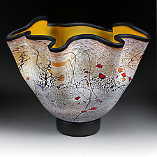 Harvest Honey by Eric Bladholm (Art Glass Vessel)